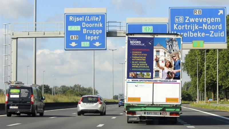 Thumbnail De kosten voor een gemiddelde Belgische wegvervoerder gaan volgend jaar 7,6% omhoog als gevolg van de op 1 april in te voeren kilometerheffing.